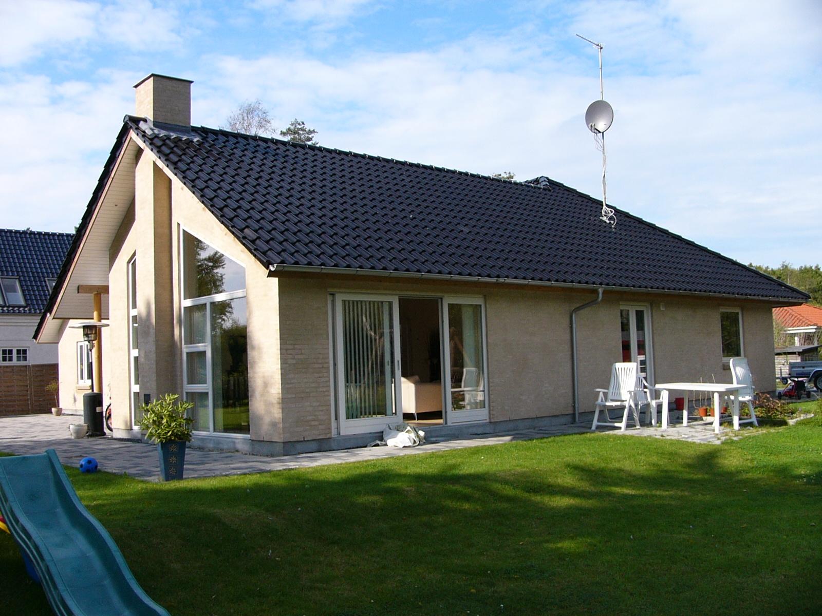 1-plans villa med atrium | Arkitektfirmaet Jacob Jensen